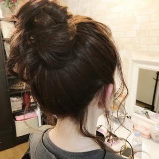 ヘアアレンジ ナチュラル デート セミロング ヘアスタイルや髪型の写真・画像