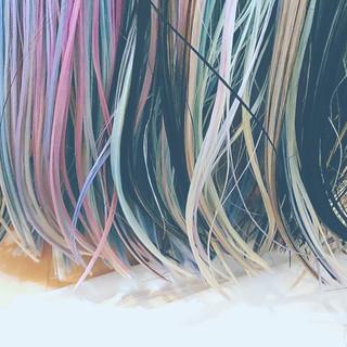 ボブ ガーリー ピンク ハイライト ヘアスタイルや髪型の写真・画像