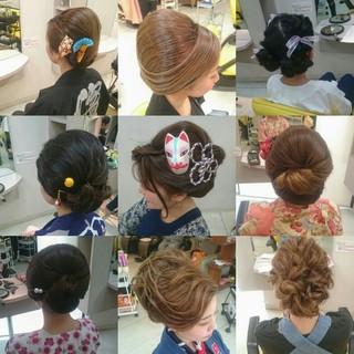ヘアアレンジ エレガント 和装 着物 ヘアスタイルや髪型の写真・画像