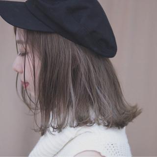 ボブ グレージュ 透明感 デート ヘアスタイルや髪型の写真・画像