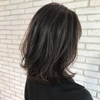 デジタルパーマ アンニュイほつれヘア ひし形シルエット コンサバ ヘアスタイルや髪型の写真・画像