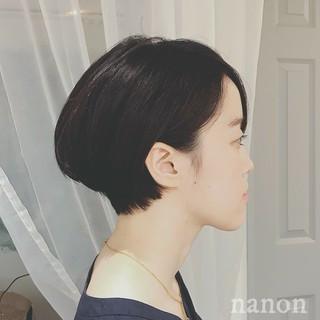 黒髪 デート ショート 色気 ヘアスタイルや髪型の写真・画像