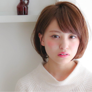 モテ髪 フェミニン ガーリー ショート ヘアスタイルや髪型の写真・画像