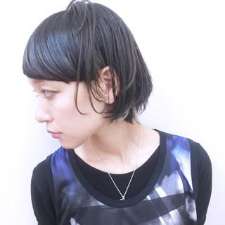 モード ショート 個性的 暗髪 ヘアスタイルや髪型の写真・画像 ヘアスタイルや髪型の写真・画像
