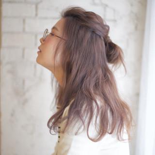 ショート アッシュ 簡単ヘアアレンジ ゆるふわ ヘアスタイルや髪型の写真・画像