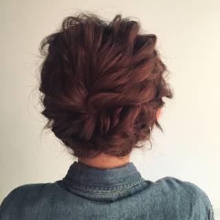ルーズ ヘアアレンジ 結婚式 ショート ヘアスタイルや髪型の写真・画像 ヘアスタイルや髪型の写真・画像