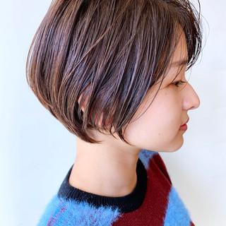 大人かわいい ナチュラル ショートボブ ばっさり ヘアスタイルや髪型の写真・画像 ヘアスタイルや髪型の写真・画像