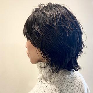 ハンサムボブ パーマ ボブ パーマ ヘアスタイルや髪型の写真・画像
