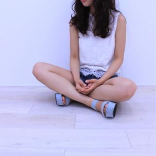 大人かわいい かわいい セミロング ガーリー ヘアスタイルや髪型の写真・画像