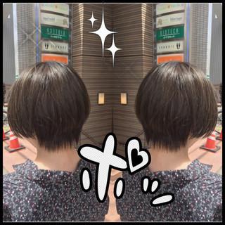 ショート 透明感 ナチュラル アッシュ ヘアスタイルや髪型の写真・画像