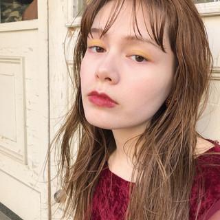 モード パーマ 抜け感 ハイライト ヘアスタイルや髪型の写真・画像