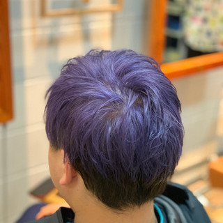 バイオレットアッシュ ストリート メンズカラー メンズスタイル ヘアスタイルや髪型の写真・画像