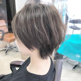 ショートヘア ベリーショート ショート 切りっぱなしボブ ヘアスタイルや髪型の写真・画像