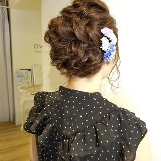 浴衣アレンジ デート お祭り 簡単ヘアアレンジ ヘアスタイルや髪型の写真・画像