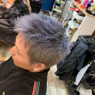 メンズ メンズヘア ラベンダーアッシュ ショート ヘアスタイルや髪型の写真・画像