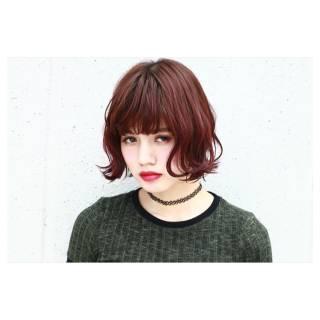 外国人風 モード ワンレングス 外ハネ ヘアスタイルや髪型の写真・画像