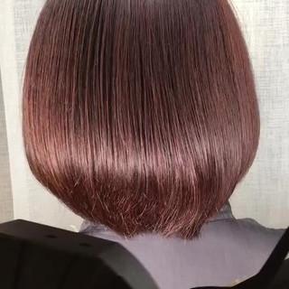 冬 ナチュラル オフィス ボブ ヘアスタイルや髪型の写真・画像