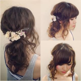 大人かわいい モテ髪 セミロング ヘアアレンジ ヘアスタイルや髪型の写真・画像
