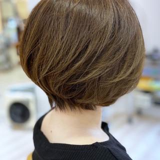 エレガント ショート ボブヘアー ショートボブ ヘアスタイルや髪型の写真・画像
