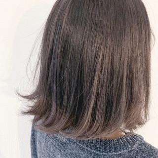 ナチュラル グラデーションカラー ミディアム ラベンダーグレージュ ヘアスタイルや髪型の写真・画像