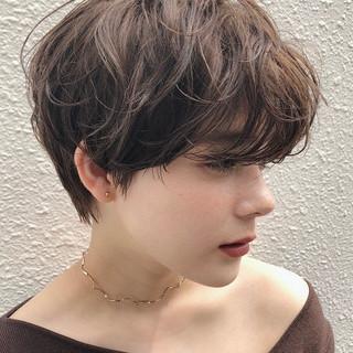 ショートパーマ ナチュラル ショートカット ショート ヘアスタイルや髪型の写真・画像