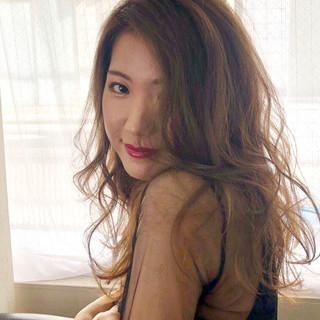 大人女子 透明感 セミロング ナチュラル ヘアスタイルや髪型の写真・画像