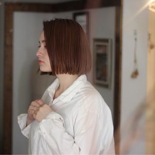 ロブ ボブ ナチュラル オフィス ヘアスタイルや髪型の写真・画像
