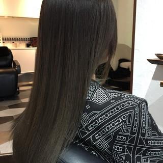 グレージュ デート アッシュ モード ヘアスタイルや髪型の写真・画像
