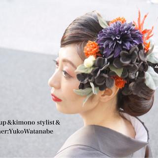 成人式 ハロウィン 結婚式 モード ヘアスタイルや髪型の写真・画像