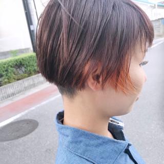 似合わせ オレンジ ストリート ショート ヘアスタイルや髪型の写真・画像