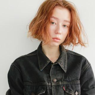 ボブ 束感 モード ロブ ヘアスタイルや髪型の写真・画像