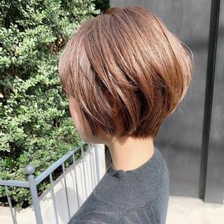 ナチュラル ショート 簡単ヘアアレンジ デート ヘアスタイルや髪型の写真・画像