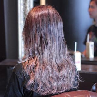 グラデーションカラー ウェーブ ハイライト ストリート ヘアスタイルや髪型の写真・画像