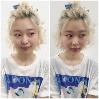 ヘアアレンジ 大人かわいい 外国人風 ハーフアップ ヘアスタイルや髪型の写真・画像