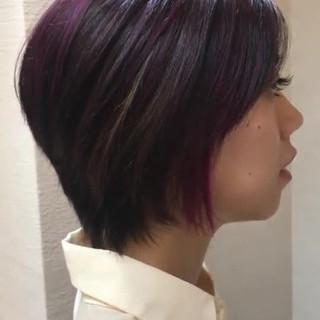 束感 メッシュ ハイライト モード ヘアスタイルや髪型の写真・画像