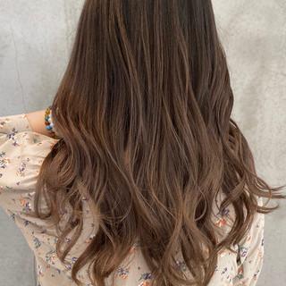 ストリート ロング エアータッチ バレイヤージュ ヘアスタイルや髪型の写真・画像