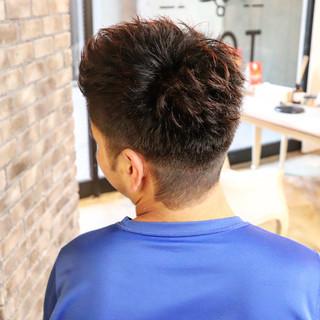 メンズパーマ デート ストリート ベリーショート ヘアスタイルや髪型の写真・画像