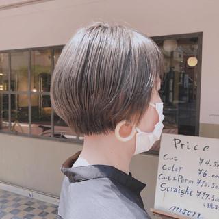 ショート デザインカラー ブリーチ必須 モード ヘアスタイルや髪型の写真・画像
