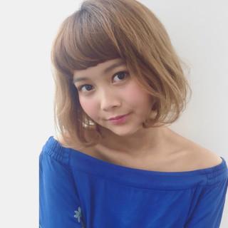 ベージュ 外国人風カラー オン眉 ハイライト ヘアスタイルや髪型の写真・画像 ヘアスタイルや髪型の写真・画像