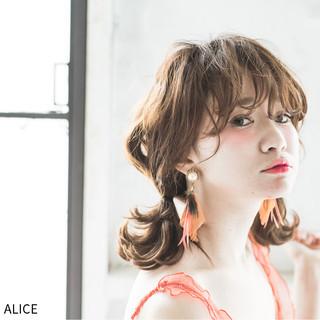 ガーリー 夏 ヘアアレンジ ショート ヘアスタイルや髪型の写真・画像 ヘアスタイルや髪型の写真・画像