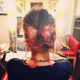 簡単ヘアアレンジ ウェーブ ヘアアレンジ ストリート ヘアスタイルや髪型の写真・画像
