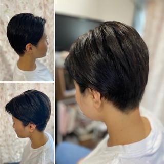 ショート ショートヘア ウルフカット ショートボブ ヘアスタイルや髪型の写真・画像