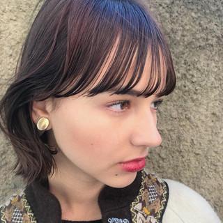 抜け感 透明感 ナチュラル 前髪あり ヘアスタイルや髪型の写真・画像