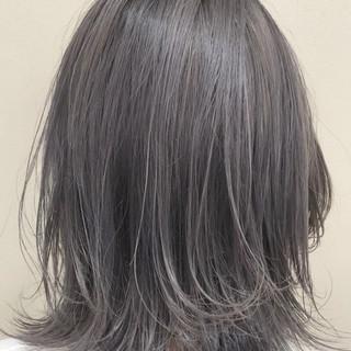 ボブ シルバー 外国人風カラー ストリート ヘアスタイルや髪型の写真・画像