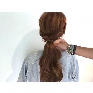 ロング 色気 夏 アウトドア ヘアスタイルや髪型の写真・画像
