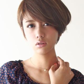 大人女子 こなれ感 ショート 外国人風カラー ヘアスタイルや髪型の写真・画像