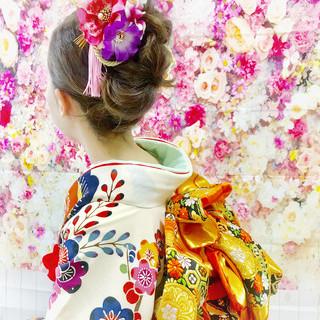 結婚式 アンニュイほつれヘア ミディアム ナチュラル ヘアスタイルや髪型の写真・画像