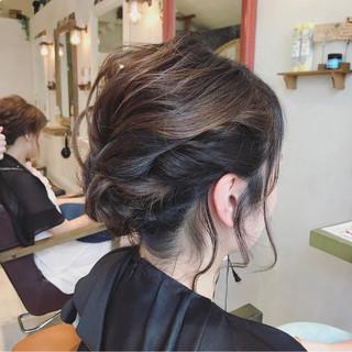 簡単ヘアアレンジ 結婚式 ヘアアレンジ ボブ ヘアスタイルや髪型の写真・画像