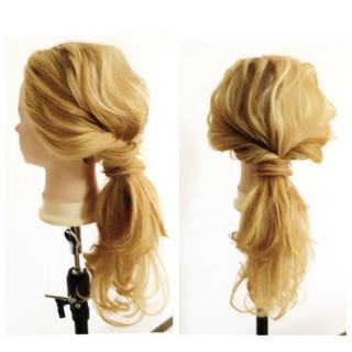 ヘアアレンジ セミロング ショート 外国人風 ヘアスタイルや髪型の写真・画像