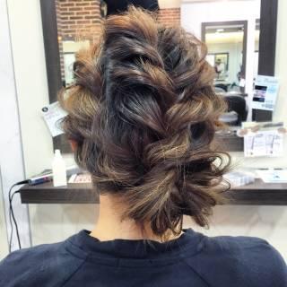 ナチュラル 結婚式 ヘアアレンジ まとめ髪 ヘアスタイルや髪型の写真・画像